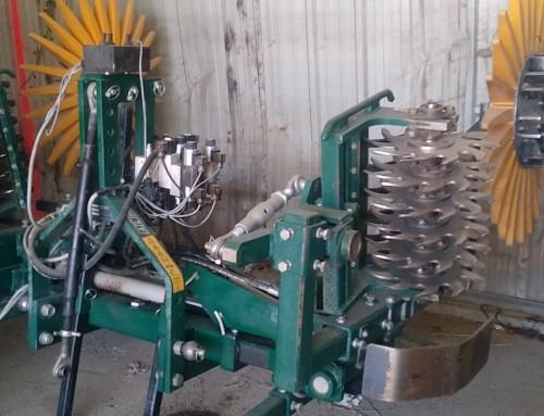 Réseau de ferme Dephy ; entretien du rang de plantation : ALM KULT efficace et rapide.